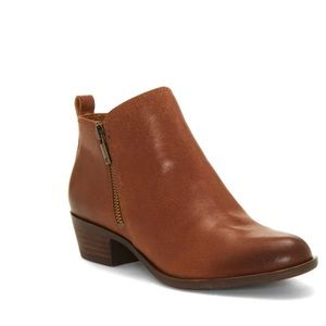 Lucky Brand // Basel Toffee Leather Ankle Bootie